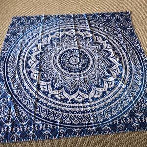 Blue Wall Tapestry Wall Decor Art